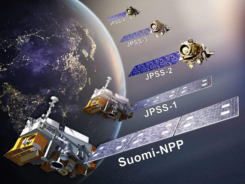 JPSS-2 is one of the five satellites that comprise the JPSS constellation. Image: courtesy of National Oceanic and Atmospheric Administration (NOAA).