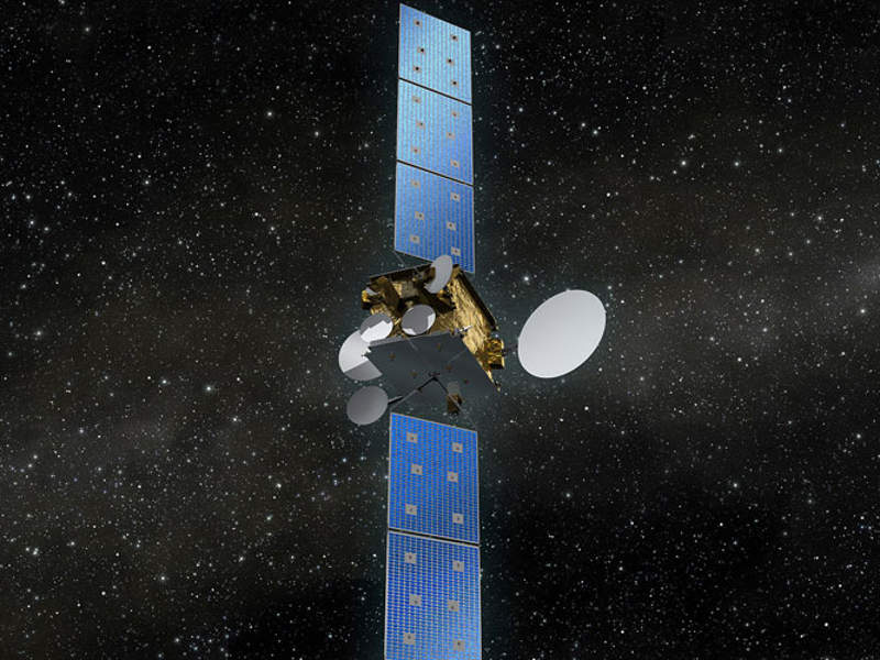 Launch of the Heinrich Hertz satellite is scheduled for 2021. Image courtesy of OHB System AG.
