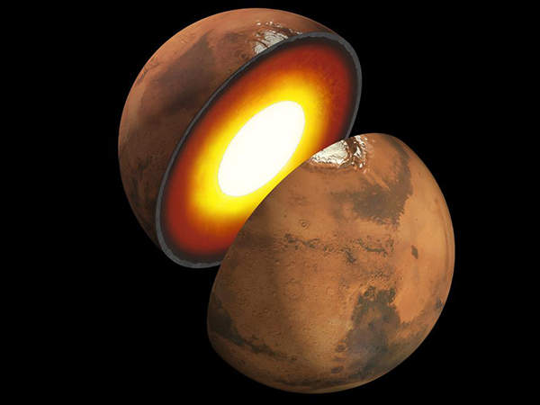 The InSight mission will study the size, thickness, density and overall structure of the Martian core, mantle and crust. Image courtesy of NASA/JPL-Caltech.
