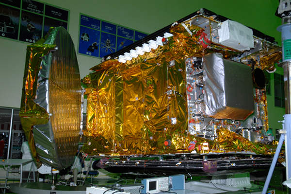 GSAT-10 will provide telecommunications, radio navigation, and Direct-To-Home (DTH) services across India. Image courtesy of ISRO.