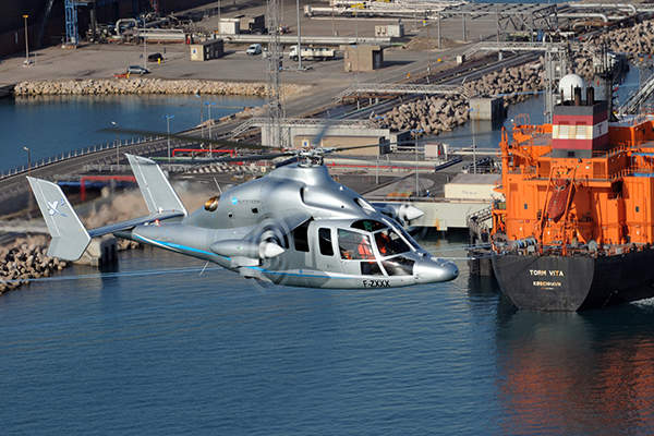 The X3 demonstrator was designed based on an EC155 helicopter. Image courtesy of Patrick PENNA.