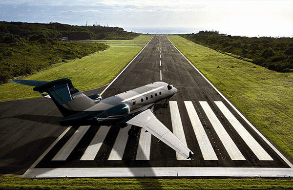 The aircraft has a maximum range of 2,900nm. Image courtesy of Embraer Executive Jets.