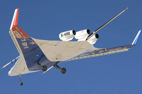 The maiden flight of X-48B was completed in July 2007.