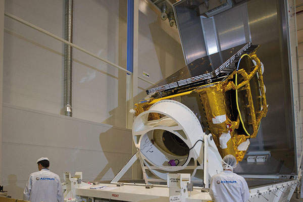 The ASTRA 2E satellite was designed and manufactured by Astrium. Image courtesy of SES.