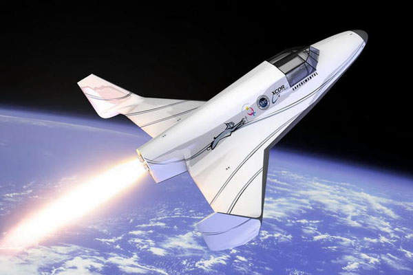 An artist's rendering of the Lynx spaceplane. Image: courtesy of XCOR Aerospace.