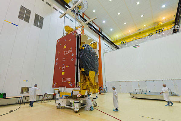 The final integration and testing of MEASAT-3b satellite was completed at the Airbus facility located in Toulouse, France. Image courtesy of MEASAT Satellite Systems.