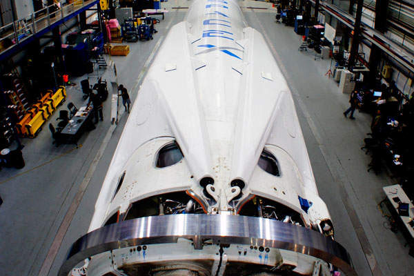 Es'hail-2 will be launched aboard SpaceX's Falcon9 rocket. Image courtesy of Space Exploration Technologies Corp.