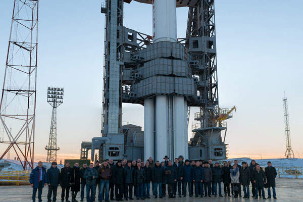 The Yamal-401 satellite was launched by a Proton-M launch vehicle in December 2014. Image courtesy of Gazprom.