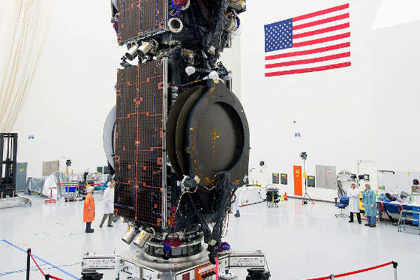 The satellite was joined with the ABS-3A satellite in November 2014. Image courtesy of Boeing.