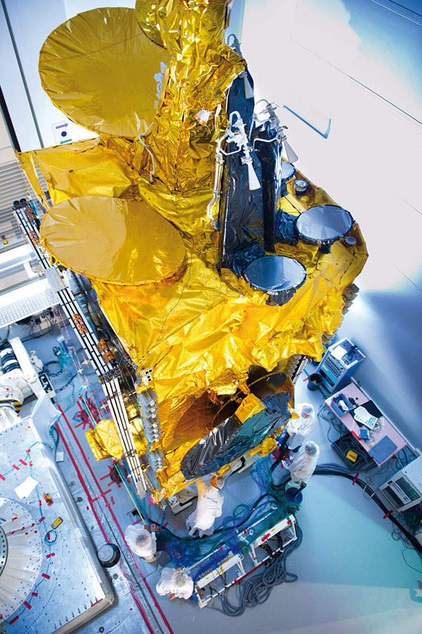 The satellite was built on the Eurostar E3000 platform which was designed by Astrium. Image courtesy of Astrium.