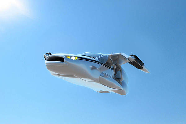 The flying car comes with retractable wings. Image: courtesy of Terrafugia.