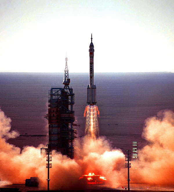 The first manned spacecraft, Shenzhou-5, was launched in October 2003.
