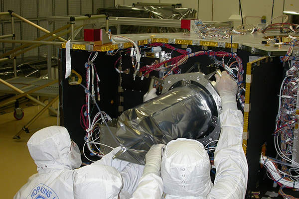 The spacecraft was designed and built by Johns Hopkins University Applied Physics Laboratory (APL). Image: courtesy of NASA/Johns Hopkins University Applied Physics Laboratory/Southwest Research Institute (NASA/JHUAPL/SwRI).