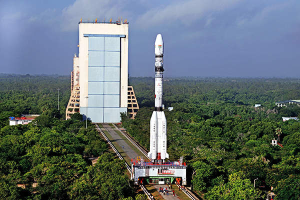 The satellite has a lift-off mass of 2,117kg. Image: courtesy of ISRO.