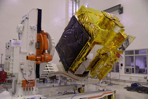 Astrosat is fitted with five astronomy payloads. Image: courtesy of ISRO.