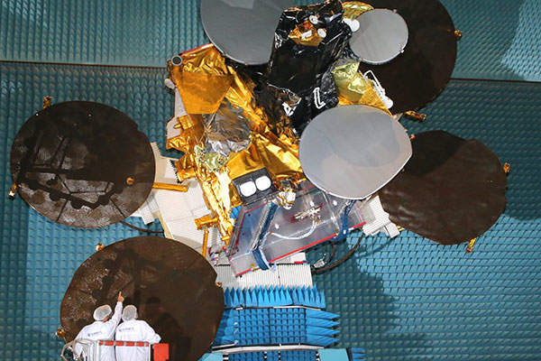 The satellite was manufactured by Airbus Defence and Space. Image courtesy of Airbus Defence and Space SAS.