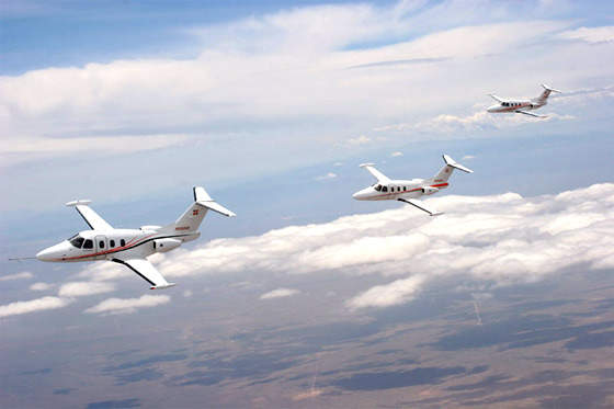 The Eclipse 500's certification process involved five pre-production flight test aircraft.