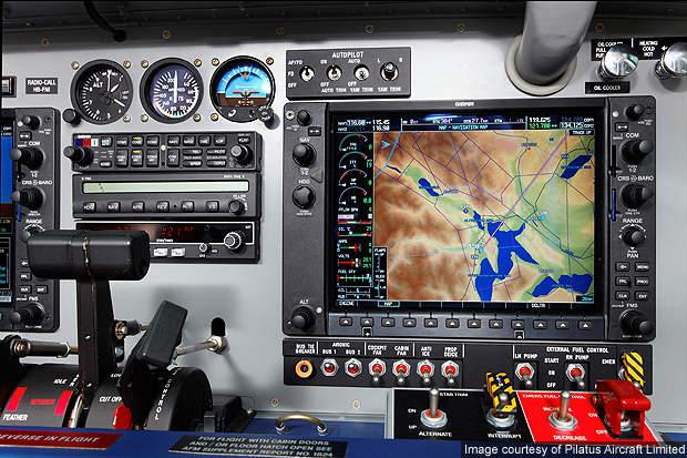 PC-6 Garmin cockpit.