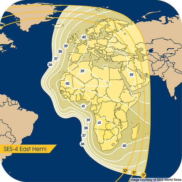 SES-4 east hemisphere.