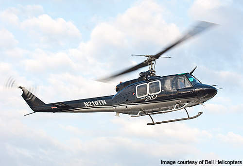 Bell 210 can perform drug interdiction and medical evacuation operations.
