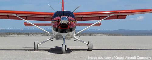 The Kodiak can take-off and land on unprepared and short air strips.