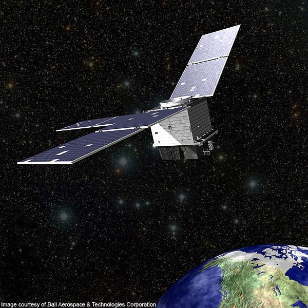 On-orbit rendering of STPSat-2.