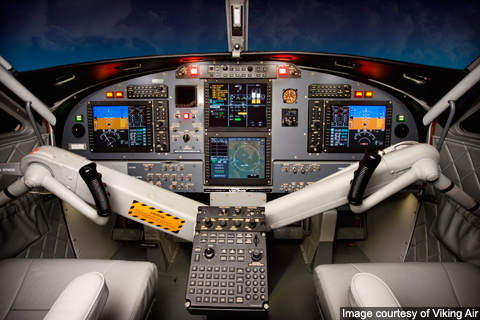 DHC-6-400 features a Honeywell Apex IFR digital flight deck.