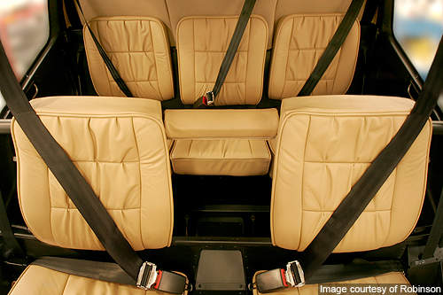 Leather seats and air bag seat belts feature in the R66.