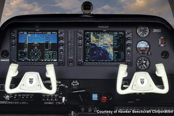 Baron G58 is equipped with the Garmin G1000 avionics suite.