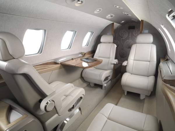 The cabin accommodates a total of two crew members and six passengers. Image courtesy of the Cessna Aircraft Company.