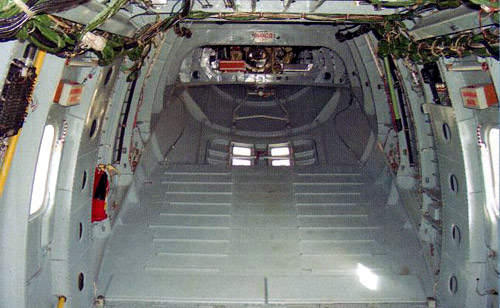 The cargo ramp of the Mi-38 configured for cargo transport.