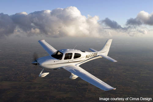 The SR20 aircraft includes a ballistic parachute system and four-point shoulder harnesses with built-in air bags for the pilot and the co-pilot.