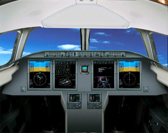 The G150 cockpit is equipped with a Rockwell Collins Pro Line21 integrated avionics suite.