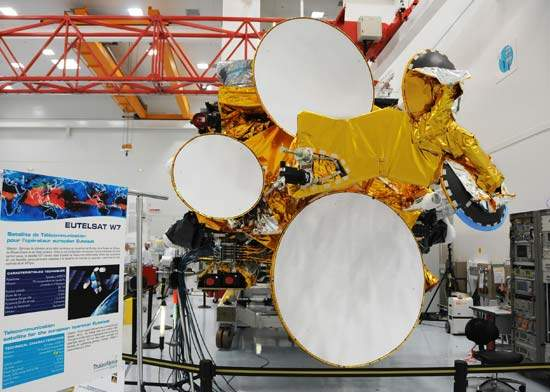The Earth face of the Eutelsat W7 satellite.