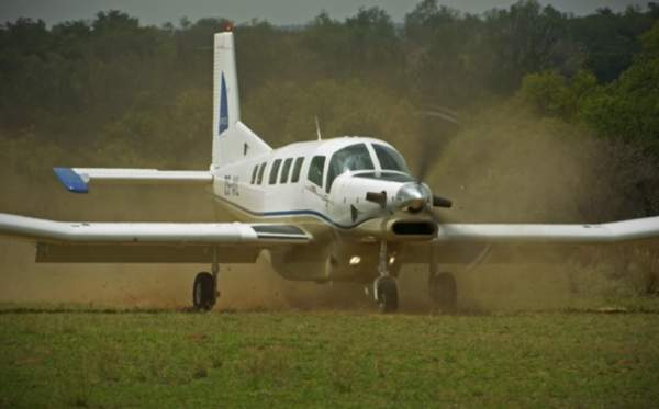 The P-750 XSTOL can operate on unprepared air strips and grass runways. Image courtesy of Pacific Aerospace.
