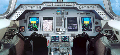 The Hawker 900XP is equipped with the Rockwell Collins Pro Line 21 avionics suite with four 8in x 10in high-resolution Active Matrix Liquid Crystal Displays (AMLCD).