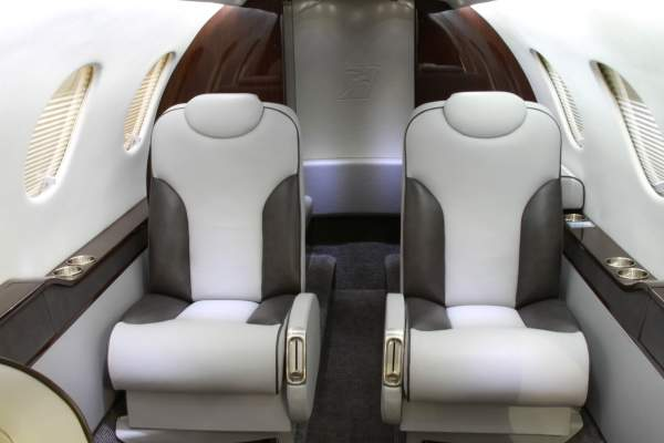 The cabin of Hawker 200 can accommodate six passengers. Image courtesy of Hawker Beechcraft Corporation.