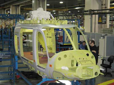 Construction of the Bell 429 cabin.
