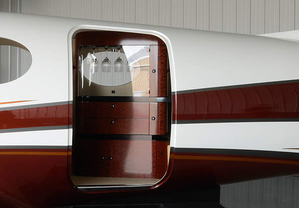 The entrance door of the Kestrel turboprop aircraft. Image courtesy of Kestrel Aircraft.
