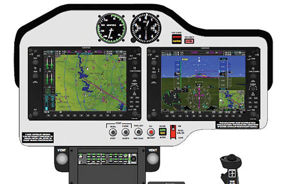The helicopter is equipped with a Garmin G1000H flight deck. Courtesy of Bell Helicopter Textron.