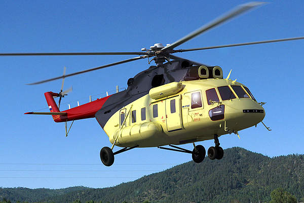 The helicopter features an upgraded version of main rotor and gear systems. Image courtesy of Russian Helicopters.