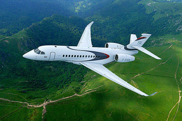 Dassault Falcon 5X programme was terminated in December 2017. Image courtesy of Dassault Aviation.