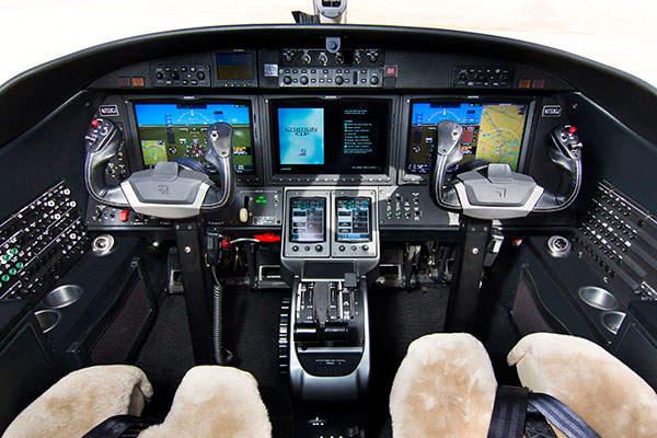 The aircraft has a Garmin G3000 flight-deck system.