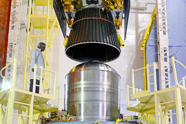 The satellite is equipped with two payloads. Image courtesy of Indian Space Research Organisation (ISRO).