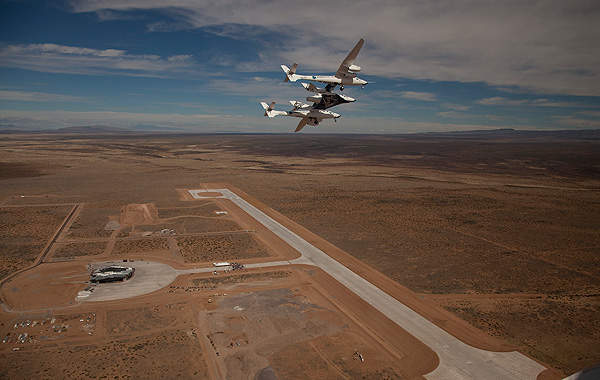 Aerial view of Spaceport America. Image courtesy of Virgin Galactic.
