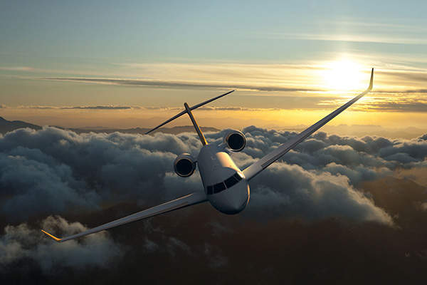 The aircraft has a range of 7,300 nautical miles at a high speed of Mach 0.90. Image courtesy of Bombardier.