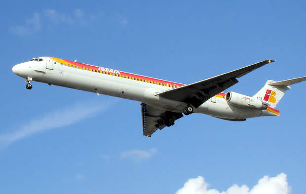 The MD-80 has a maximum range of 2,897km.