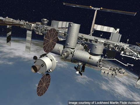 Orion will be fitted with a Launch Abort System (LAS), Crew Module (CM), Service Module (SM) and Spacecraft Adapter.