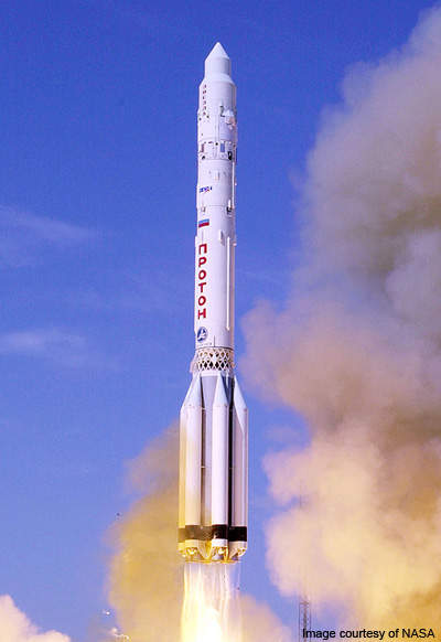 Protostar II was launched atop Proton rocket launcher.
