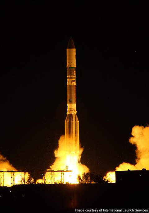 The Telstar 14R launched into GEO on the back of a Proton-M Briz-M vehicle on 20 May 2011.